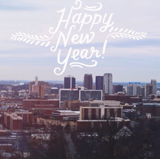 Happy New Year 2016 - New Year Resolutions - Birmingham, Alabama skyline
