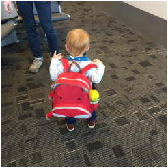 Minimalist Packing with a Toddler // 5 things I learned on our first cross-country flight and two-state road trip with a 1 year old.