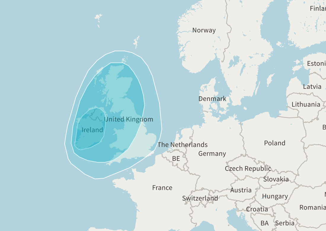 ancestry.com DNA test map graphic Ireland