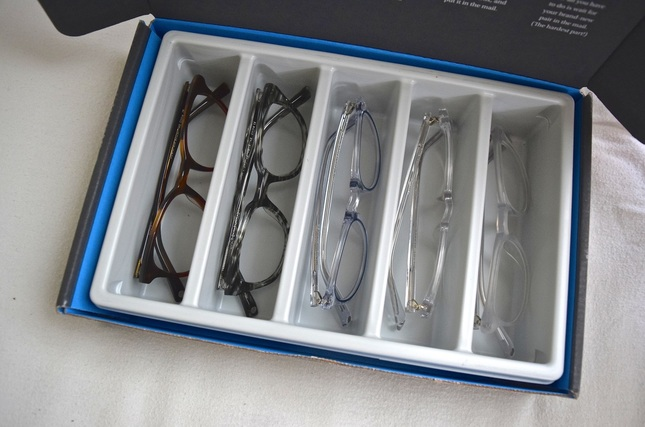 Warby Parker home try-on review - Haskell, Durand, Percel, Chelsea & Baker frames