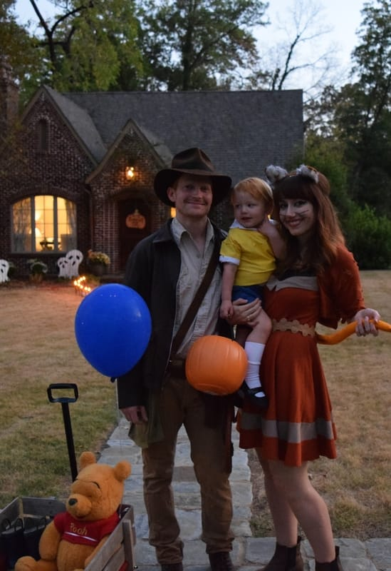 Halloween Costumes: Indiana Jones, Christopher Robin, and a Ginger Cat