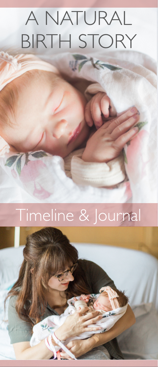 A Natural Birth Story: Timeline & Journal - Joie Arrives at St. Vincent's Hospital in Birmingham, Alabama - WhatYourParentsDid.com